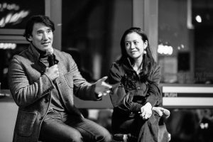 Academy Award nominees Jimmy Chin and E. Chai Vasarhelyi at the Global Networking Event
