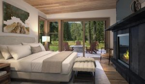 A Bedroom at the Snake River Sporting Club