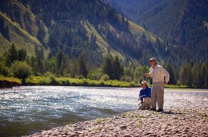 Fishing at the Snake River Sporting Club
