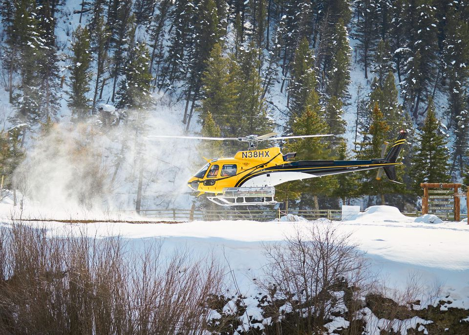 Heli-Skiing at the Snake River Sporting Club