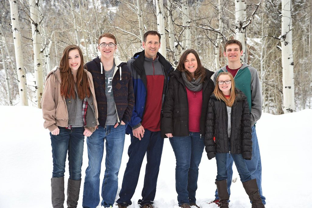 Patty Speakman with her family in Star Valley, Wyoming.